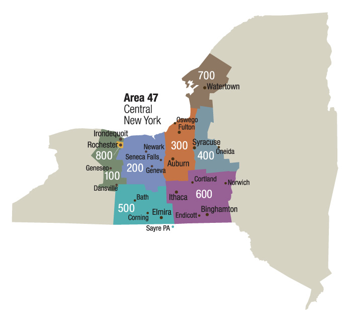 Alcoholics Anonymous districts in Area 47 Central NY